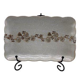 Vintage Floral Rectangular Asian Platter